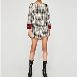 Brand New with Tag Zara Checked Dress / Size S